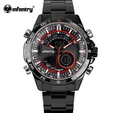 INFANTRY Mens LCD Digital Quartz Water Resistant Tactical Military Wrist Watch
