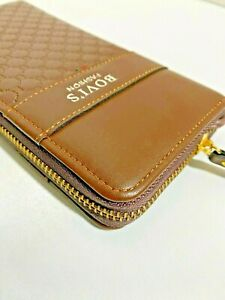 Large Wallet Soft Shiny Faux Leather Business Wallet Credit Card and Cash Holder