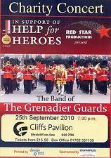 THE GRENADIER GUARDS HELP FOR HEROES Theatre Flyer 2010 Handbill
