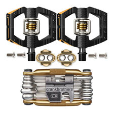 Crank Brothers Mallet Enduro 11 Bike Pedals Pair (Black/Gold) with M19 Tool Kit