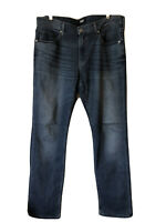 Paige Normandie Mens 36 X 34  Blue Jeans Straight Leg Stretch Medium Wash