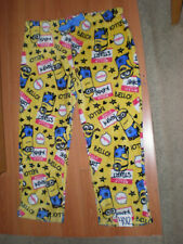 (2X-18W/20W) Despicable Me YELLOW Minions Warm & Fuzzy Lounge Pajama Bottoms