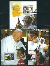 GUINEA BISSAU 2003 POPE PAUL 3 different souvenir sheets VF MNH