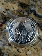 2018 Queen's Beasts Black Bull Of Clarence Silver 2 Oz UK 5 Pound