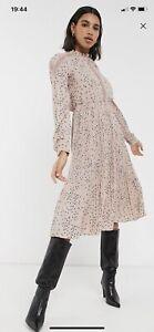 Asos Pink Midi Dress Vera Moda Size M Summer