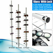 10pcs 121618 Frames Wall Mounted Eyeglasses Sunglasses Display Holder Lockable