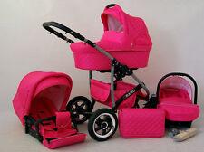 BABY PRAM QBARO TRIO 3 IN 1 PUSHCHAIR CARRYCOT SEAT CAR