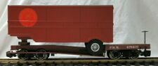 BACHMANN 98314 PENNSYLVANIA FLAT CAR W/ CLOSED TRAILER & METAL WHEELS