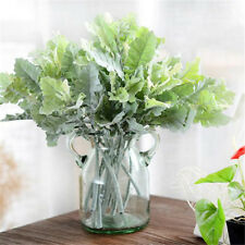 Artificial Dusty Miller Leaves Green Plants Fake Foliage Flowers Home Decor