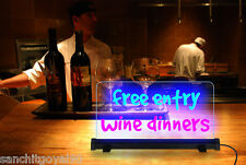 2 in 1 dual tabletop hanging Led writing menu board sign display with 2 MARKERS