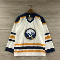 Vintage 80s Buffalo Sabres NHL Hockey CCM Maska Ultrafil Jersey Size Medium