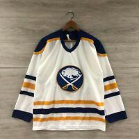 Vintage 80s Buffalo Sabres NHL Hockey CCM Maska Ultrafil Jersey Size Medium