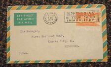 1958 Ireland Baile Atha Cliath C6 Air Mail cover to Missouri