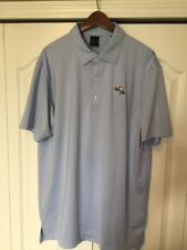 ⛳ DUNNING GOLF PALE BLUE SOLID GOLF/POLO SHIRT -MENS LARGE-L -BAY HILL ⛳