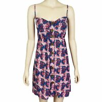 DOTTI Women's Size 12 Sleeveless Button Up Boho Knee Casual Babydoll Dress