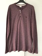 VGC Large Abercrombie Long Sleeve Textured Henley Muscle Fit Top In Plum/purple