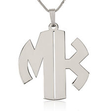 Monogram Necklace - Sterling Silver 1.2″ Letters Initial Necklace - oNecklace ®