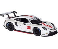 Bburago 1:24 Porsche 911 RSR Diecast Model Racing Car Vehicle NEW IN BOX White