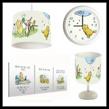 Classic Winnie The Pooh (103) - Nursery Set Lampshade, Lamp, Clock Canvas Prints