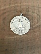 Washington Quarter Rev-Eagle-90% SILVER Coin Jewelry-PENDANT CHARM Vintage!