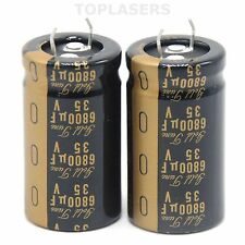1pair 6800UF 35V Nichicon KG Gold Tune Electrolytic Capacitors for Amplifier AMP