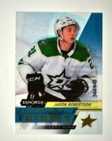 2020-21 UD Synergy Exceptional Futures Gold #EFS-JR Jason Robertson RC /449