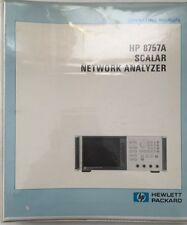HP 8757A Scalar Network Analyzer Operating Manual P/N 08757-90034