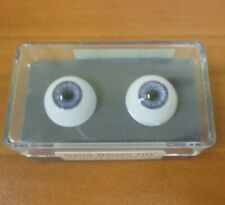 Vintage New Glastic Realistic Eyes Glass Craft Doll Parts NOS 16 mm Light Blue