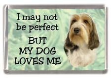 "Petit Basset Griffon Dog Fridge Magnet ""I may not be perfect .."" by Starprint"