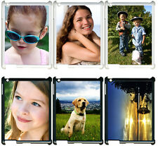 Personalized Photo iPad 2 3 4 Custom Picture on TPU Hard Case Cover BLACK