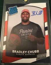2018 Panini National Gold Pack Rated Rookie Bradley Chubb On Card Autograph