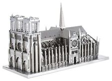 Tenyo T-MP-004 3D Metallic Nano Puzzle World Heritage Notre Dame Cathedral F/S