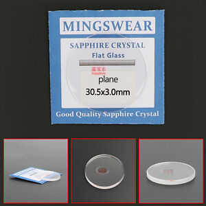 3.0mm Thick 30.5-32.5mm Flat Sapphire Watch Glass Round Crystal Replacement New