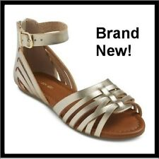 NEW - CHEROKEE Girls Sandals -  Color: Silver Style: Rose - Size 13