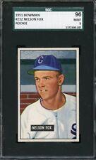 1951 Bowman NELLIE FOX #232 White Sox - ROOKIE CARD - SGC 96 / 9  LOW POP