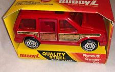 Buddy L Red MIB Plymouth Voyager Van Pressed Steel Red Mini Van!