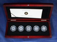 "2012 Canada Silver Proof 5 coin set ""One Cent Designs"" in Case / COA    (H5/12)"