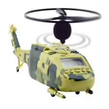 Helicopter Alarm Clock Aircraft Taking Off and Landing Sound Battery green