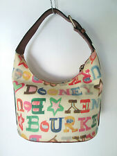 Dooney & Bourke Multi-Color Coated Canvas Satchel Bag Small 6 in,5 in,11 in,7 in