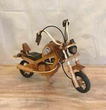 Large Light Wood Motorbike Wooden Motorcycle Ornament Handmade 28cm Long