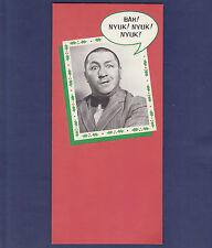 UNUSED 1985 CURLY HOWARD EBENEZER STOOGE CHRISTMAS CARD WITHOUT ENVELOPE