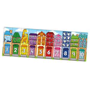 Orchard Toys Number Street Jigsaw Puzzle Count Math Educational Learn Kids