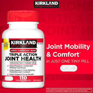 Kirkland Triple Action Joint Health, 110 Tablets,Compare to Move Free Ultra 2023