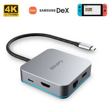 Nintendo Switch to HDMI Dock DeX Station Macbook Pro USB C Hub Ethernet Adapter
