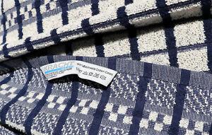 2x Towels Check Kracht Terry Grubenhandtücher Bath Cloths Beige Blue Checked