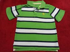 CARTER'S BOY'S POLO STRIPED POLO T-SHIRT GREEN WHITE SIZE 7