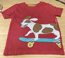 New listing Mini Boden 2 - 3 Years Red Skateboarding Dog T Shirt
