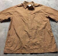 90s VTG THE GAP ALL OVER Basket Weave Print M Shirt VAPORWAVE Funky Abstract