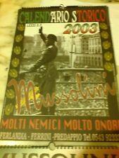 Calendario Mussolini 2020.Calendario Mussolini 2019 In Vendita Ebay