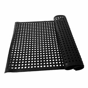 2 PCS Rubber Matting Water Resistant Large Outdoor Entrance Anti..